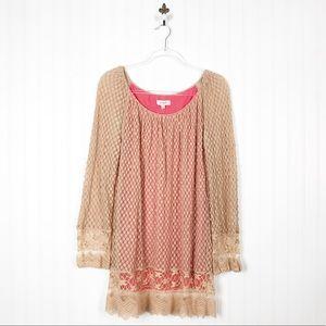 Umgee Lace Tunic Dress